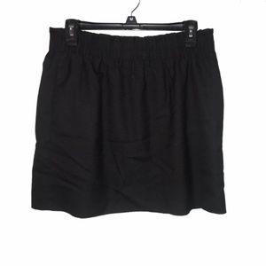 J  Crew | paper bag style black mini skirt